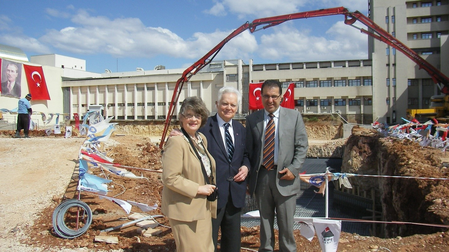 With Prof. Gösta Gahrton at the construction site in Antalya